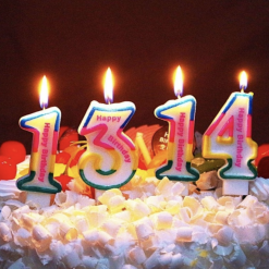 Rainbow number candles - cake accessories | Whyzee Birthday Cake Delivery
