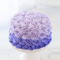 Purple Ombre Rosette Cake - Whyzee Birthday Cake Delivery